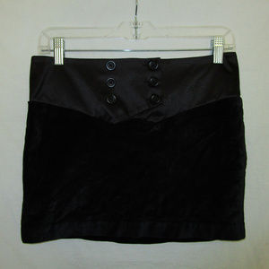 Bcbgeneration 2 Black Velvet Satin Mini Skirt BCBG